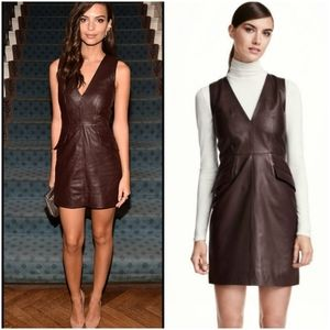 H&M leather dark brown dress